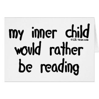Rather Be Reading Greeting Card