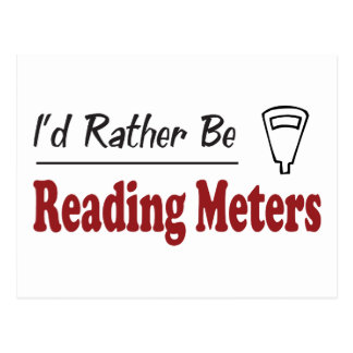 Rather Be Reading Meters Postcard