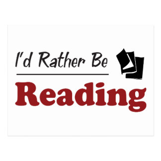 Rather Be Reading Postcard