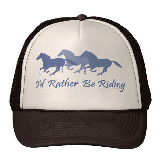 Rather Be Riding - Horse Saying Mesh Hat