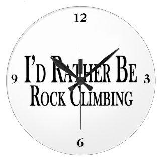 Rather Be Rock Climbing Large Clock