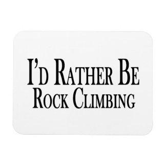 Rather Be Rock Climbing Rectangular Photo Magnet