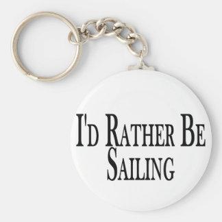 Rather Be Sailing Key Ring
