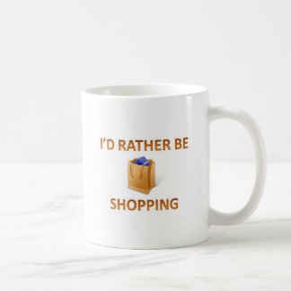 Rather be shopping basic white mug