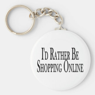 Rather Be Shopping Online Key Chain