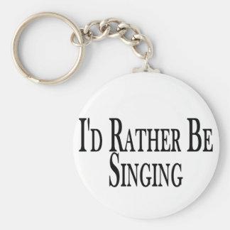 Rather Be Singing Key Ring