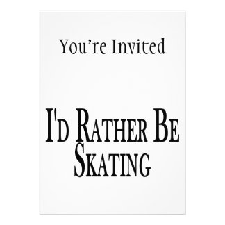 Rather Be Skating Personalized Invites