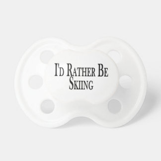 Rather Be Skiing Baby Pacifiers