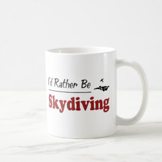Rather Be Skydiving Basic White Mug