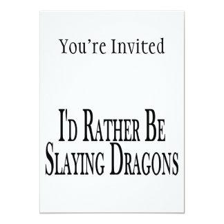 Rather Be Slaying Dragons 13 Cm X 18 Cm Invitation Card