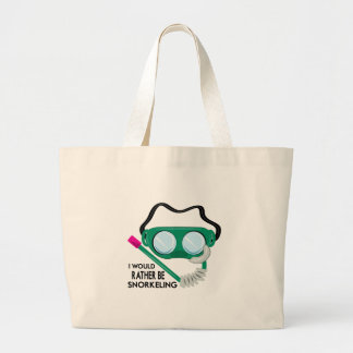 Rather Be Snorkeling Canvas Bags