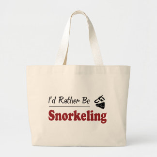 Rather Be Snorkeling Jumbo Tote Bag