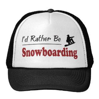 Rather Be Snowboarding Cap