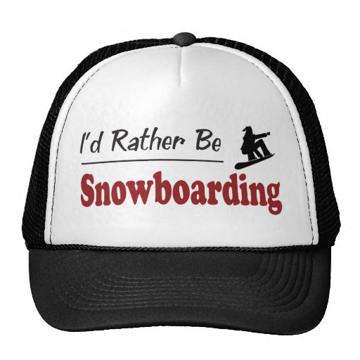 Rather Be Snowboarding Mesh Hats