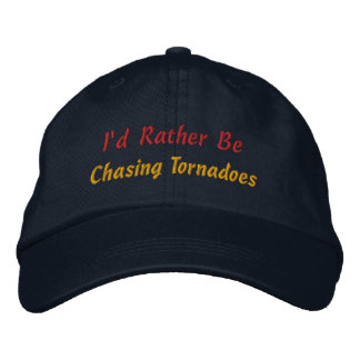 Rather Be Storm Chasing Storm Chaser Storm Spotter Embroidered Cap