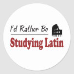 Rather Be Studying Latin Sticker