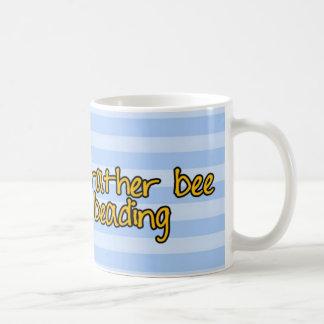 rather bee beading basic white mug
