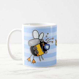 rather bee diving coffee mug