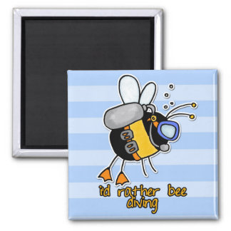 rather bee diving square magnet