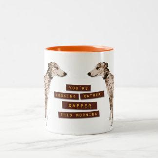 Rather Dapper Whippet Two-Tone Mug
