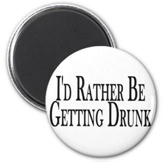 Rather Get Drunk 6 Cm Round Magnet