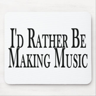 Rather Make Music Mouse Mat