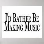Rather Make Music Poster