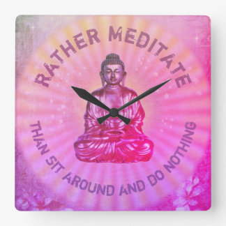Rather meditate... square wall clock