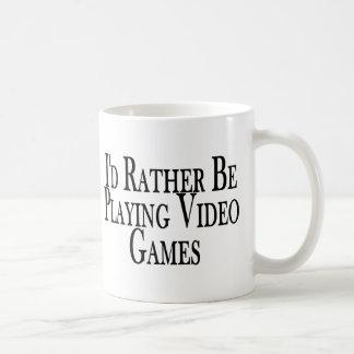 Rather Play Video Games Coffee Mug