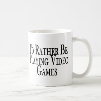 Rather Play Video Games Mugs
