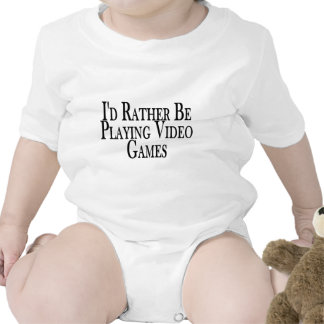 Rather Play Video Games Bodysuits