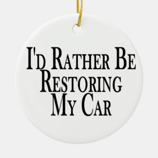Rather Restore Car Round Ceramic Decoration