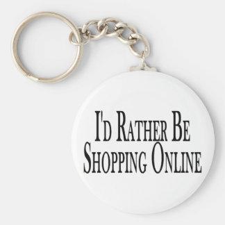 Rather Shop Online Keychain