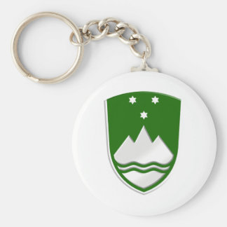 Rather stylish new Slovenija green soccer badge Key Ring