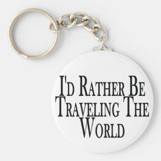 Rather Travel The World Key Ring