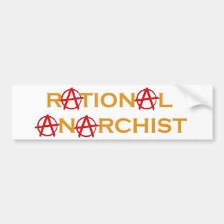 Rational Anarchist Bumper Sticker