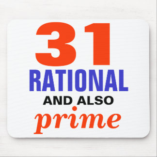 Rational and Also Prime Mouse Pad