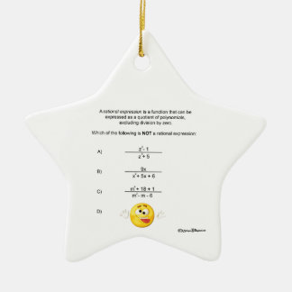 Rational Expression Ceramic Star Decoration
