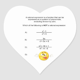 Rational Expression Heart Sticker