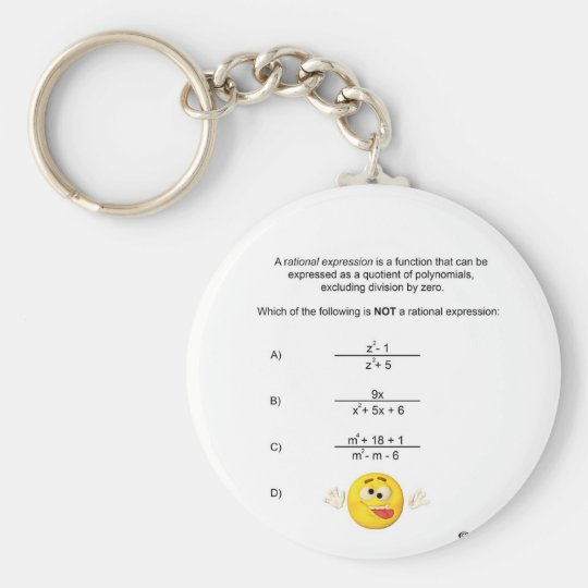 Rational Expression Keychain