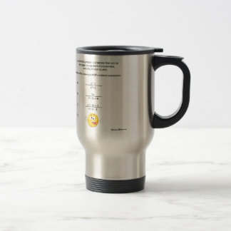Rational Expression Stainless Steel Travel Mug