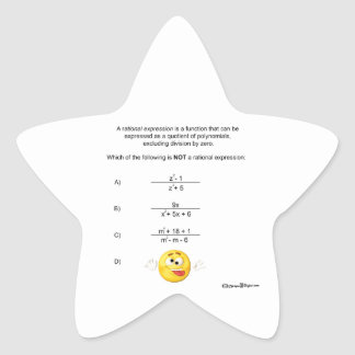 Rational Expression Star Sticker