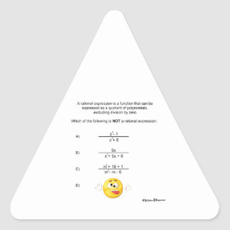 Rational Expression Triangle Sticker