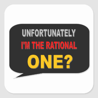 RATIONAL ONE SQUARE STICKER
