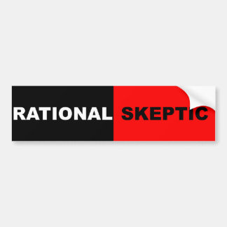 Rational Skeptic Bumper Sticker