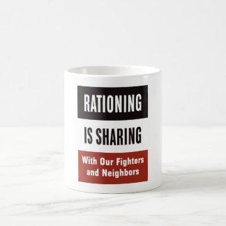 Rationing Is Sharing -- WWII Basic White Mug