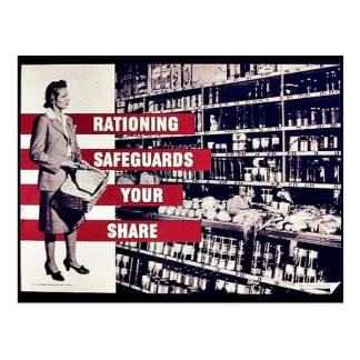 Rationing Safeguards Your Share Postcard