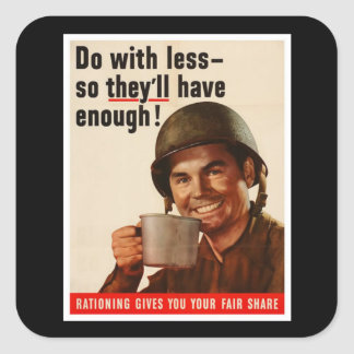 Rationing - WW2 Square Stickers