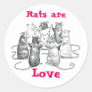 Rats are Love Classic Round Sticker
