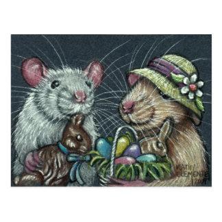 Rats Easter Baskets Postcard